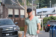 Josh Duhamel and Son Axl Are Seen Out