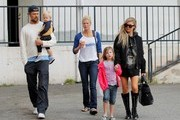 Josh and Fergie family day
