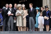 The royal family attends a church service to conclude the Diamond Jubilee celebrations.  The only person not in attendance was Prince Philip, Duke of Edinburgh, who spent the night in hospital with a bladder infection.