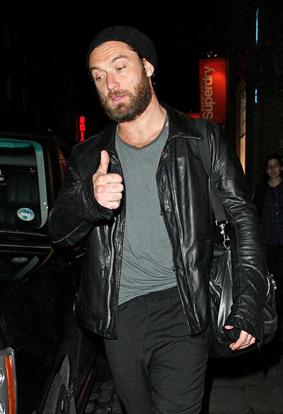 Jude Law Jude Law seen leaves the Donmar Warehouse Theatre.