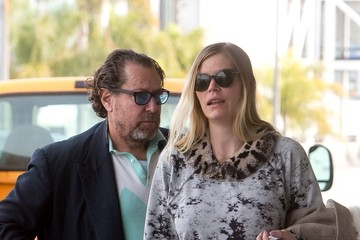 Julian Schnabel Julian Schnabel and May Anderson Head to the Airport
