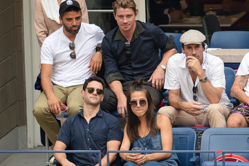 Justin Bartha Celebrities Attend the US Open at USTA Billie Jean King National Tennis Center