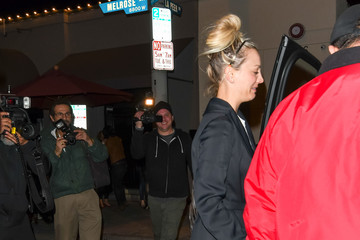 Kaley Cuoco David Spade and Kaley Cuoco Outside Craig's Restaurant in West Hollywood