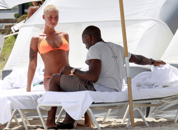 amber rose beach. Amber Rose Rapper Kanye West