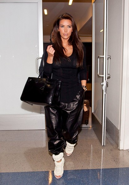 Kim Kardashian Flies Out of LA