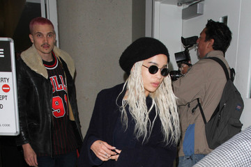 Karl Glusman Zoe Kravitz and Karl Glusman Take a Flight at LAX