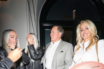 Kat Hess Bill Belichick Outside Craig's Restaurant In West Hollywood