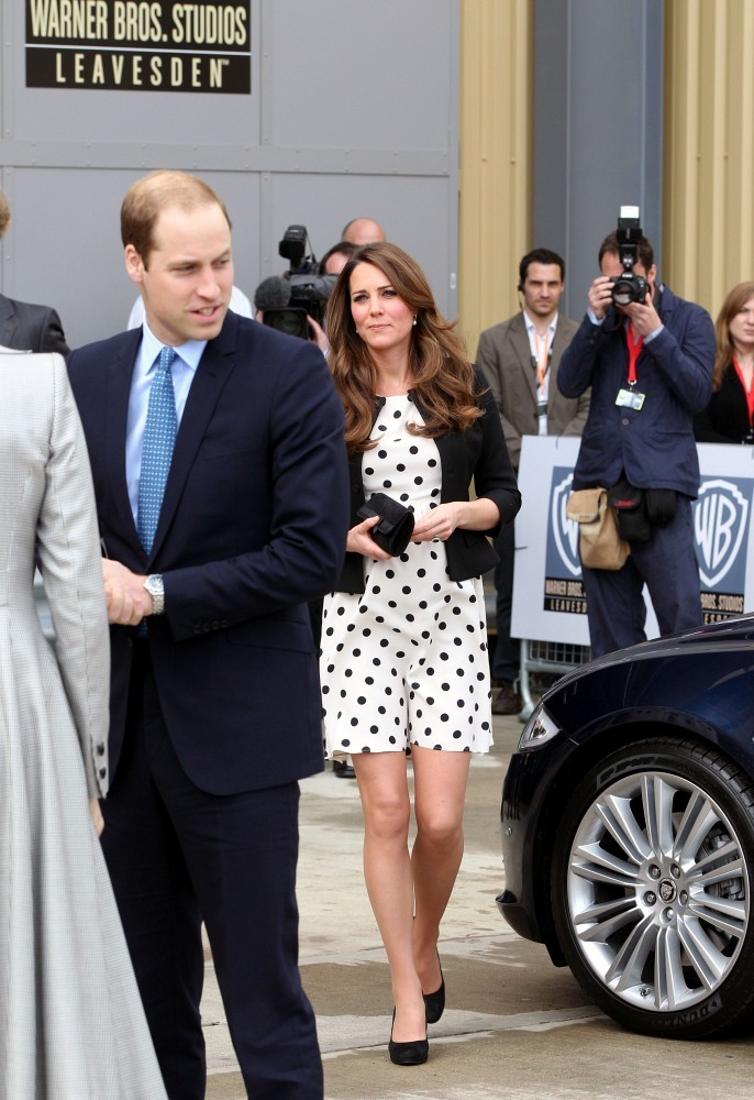 Kate Middleton - British Royals Tour the Warner Bros. Studio 4
