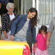 Kathleen Holmes Katie Homes and Her Daughter Arrive in NYC