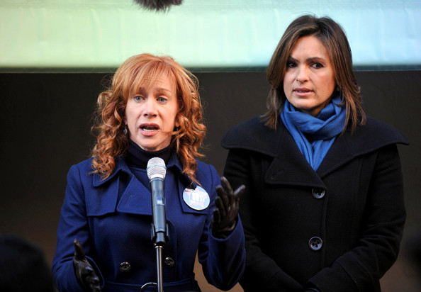 """Actress Kathy Griffin films scenes for her guest appearance on an episode of """"Law and Order: SVU.""""."""