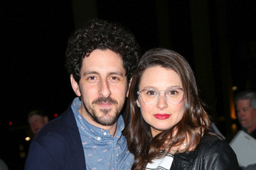 Katie Lowes Katie Lowes and Adam Shapiro Are Seen Outside the Ahmanson Theatre