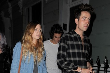 Kelly Osbourne Nick Grimshaw Harry Styles Out on the Town