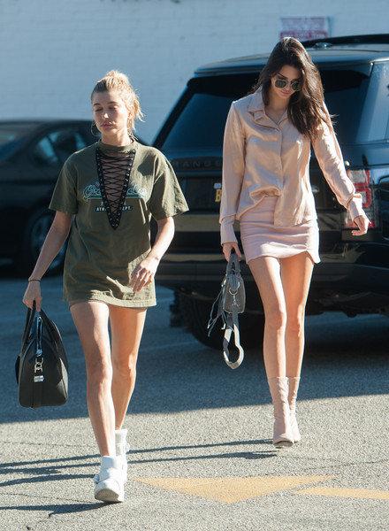 Kendall Jenner and Hailey Baildwin Shop at Fred Segal