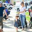 Kevin Manno Ali Fedotowsky At The Farmer's Market In Studio City