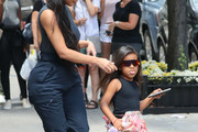 Kim Kardashian, Kanye West, And North West In New York