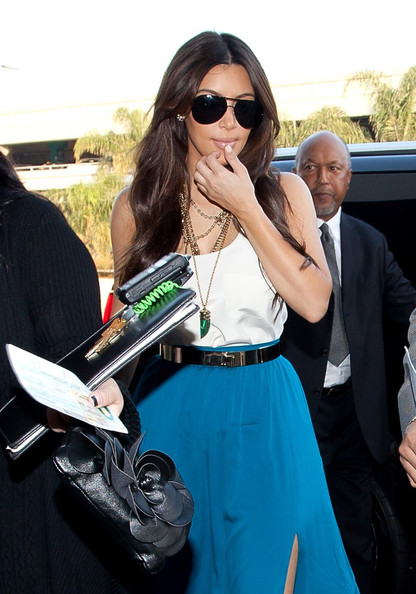 Kim Kardashian - Kim Kardashian at the Airport