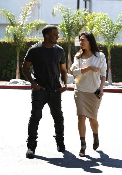 Kim Kardashian and Kanye West Out in Beverly Hills