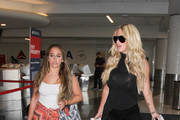 Kim Zolciak and Her Family Are Seen at LAX