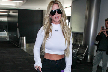 Kim Zolciak Kroy Biermann and Kim Zolciak at LAX..