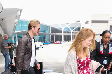 Kimberly Brook James Van Der Beek and Wife Kimberly Brook at LAX International Airport
