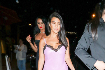 Kourtney Kardashian Kourtney Kardashian Dines At Craig's Restaurant