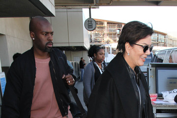 Kris Jenner Kris Jenner and Corey Gamble Touch Down at LAX