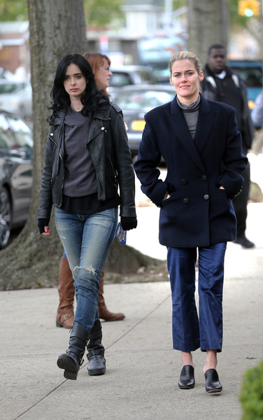 Krysten Ritter And Rachael Taylor Film Season 3 Of Jessica Jones