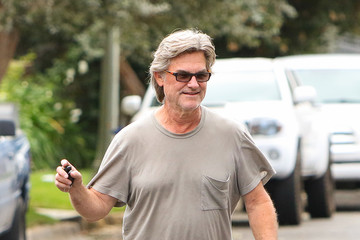 Kurt Russell Kurt Russell Heads Out for the Day