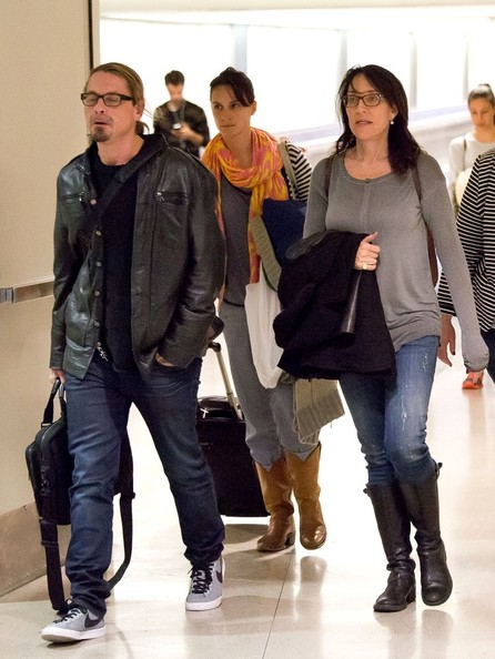 Kurt Sutter and Katey Sagal at LAX - Zimbio