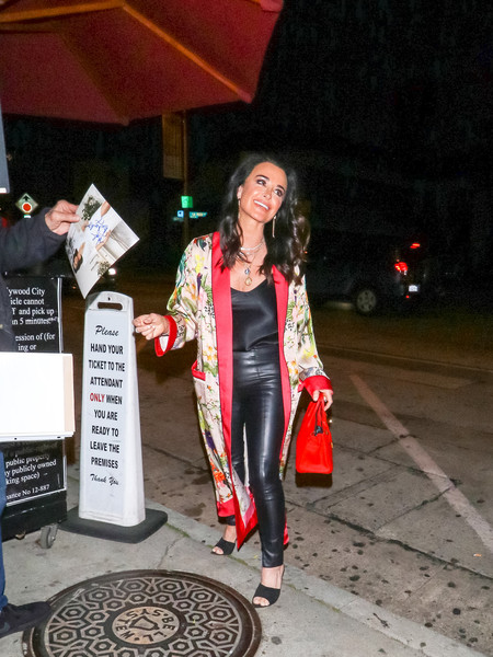 Kyle Richards Outside Craig's Restaurant In West Hollywood