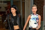 Kylie Jenner and Hailey Baldwin Hold Hands