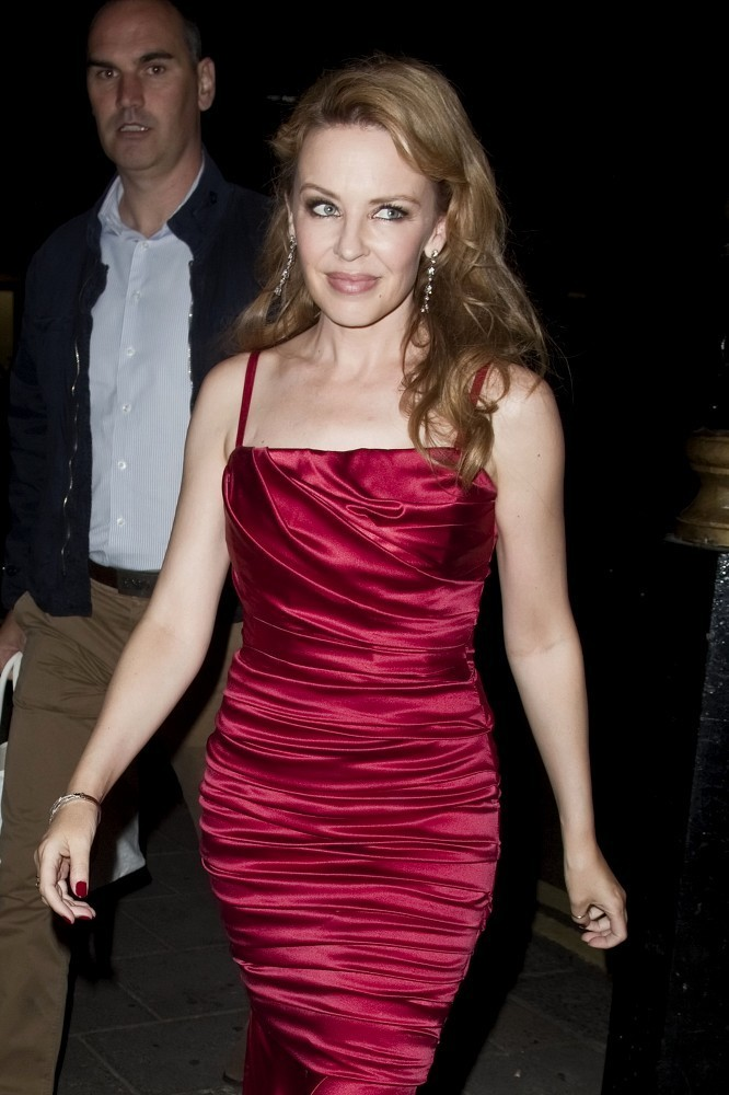 Kylie Minogue In Kylie Minogue Looks Hot In A Red Dress