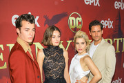 Jack Bannon, Emma Corrin, Paloma Faith and Ben Aldridge are seen attending the premiere of Epix's 'Pennyworth' at Harmony Gold in Los Angeles, California.