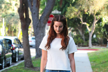Lana Del Rey Lana Del Rey Heads Out in West Hollywood