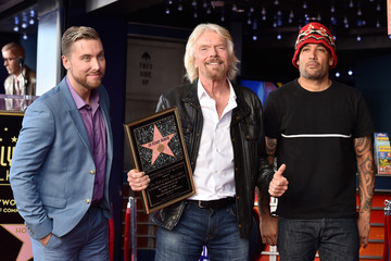 Lance Bass Sir Richard Branson Is Honored With A Star On The Hollywood Walk Of Fame