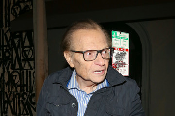 Larry King Larry King Outside of Craig's Restaurant in Beverly Hills