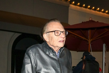 Larry King Larry King Outside Craig's Restaurant In West Hollywood