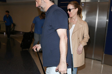 Leslie Mann Judd Apatow and Leslie Mann Are Seen at LAX