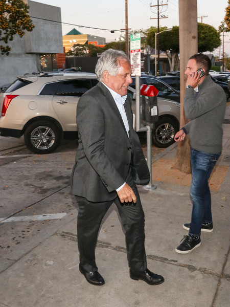 Leslie Moonves Outside Craig's Restaurant In West Hollywood