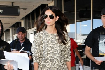 Lily Aldridge Lily Aldridge Arrives at LAX
