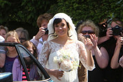 Lily Allen and Sam Cooper are married at the St. James the Great Church.