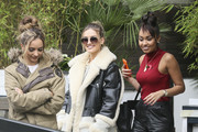 Girl-band Little Mix are pictured leaving the ITV studios following a guest appearance on 'Lorraine'.