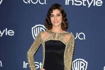 Lizzy Caplan Arrivals at the InStyle/Warner Bros. Golden Globes Party