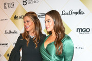 Ashley Graham and Kathy Ireland are seen arrives at the Los Angeles Team Mentoring's 20th Annual Soiree at the Fairmont Miramar Hotel in Los Angeles, California.