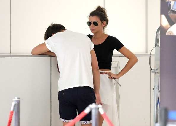 Louis Tomlinson and Eleanor Calder Flirt at the Airport ...