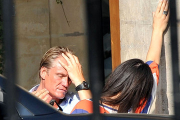 Jenny Sandersson Dolph Lundgren and Girlfriend at Carette Restaurant