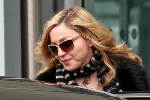 Madonna and Family at Heathrow