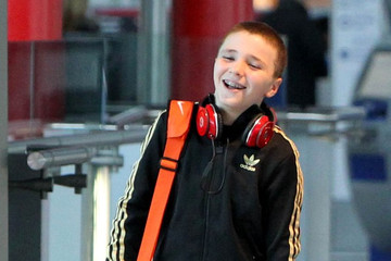 Rocco Ritchie Madonna and Kids in Heathrow Airport 2
