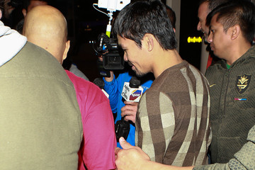 Manny Pacquiao Manny Pacquiao Is Seen at LAX