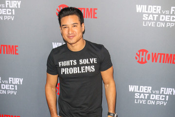 Mario Lopez Tyson Fury At 'Fury vs. Wilder' Fight At The Staples Center